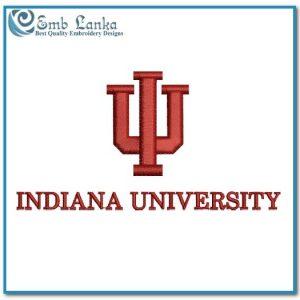 Indiana University Logo 2 Embroidery Design Logos University