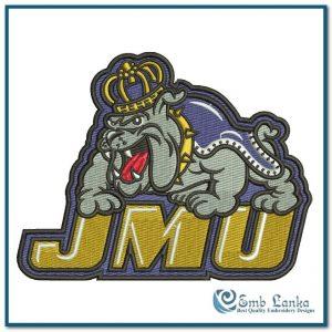 James Madison Dukes Logo Embroidery Design Logos