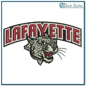 Lafayette Leopards Logo Embroidery Design Logos
