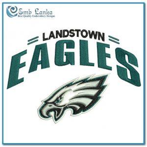Landstown Eagles Logo Embroidery Design Logos