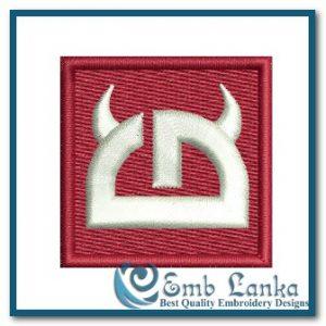 Little Devil Logo 6 Embroidery Design Cartoon