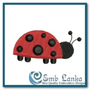Free Little Lady Bug Embroidery Design Animals