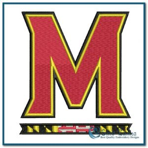 Maryland Terrapins New Primary Logo Embroidery Design Logos