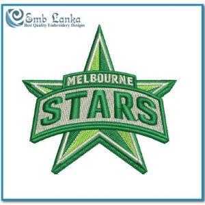 Melbourne Stars Cricket Team Logo Embroidery Design Logos Cricket