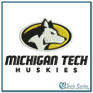 Michigan Tech Huskies Logo 2 Embroidery Design Logos