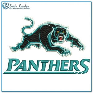 Penrith Panthers Logo 3 Embroidery Design Logos