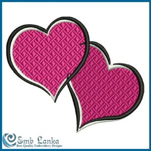 Free Pink Hearts Embroidery Design Days