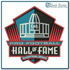 Pro Football Hall of Fame Logo Embroidery Design Logos