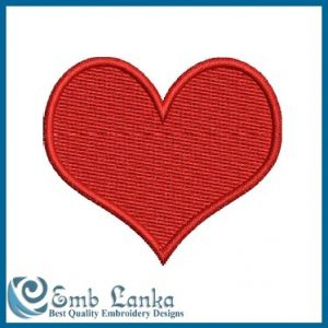 Free Red Heart Embroidery Design Days
