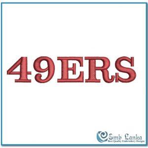 San Francisco 49ers Embroidery Design American League Logo NFL