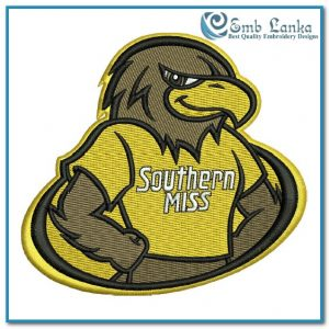 Southern Miss Golden Eagles Mascot Logo Embroidery Design Logos