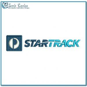 Star Track Logo Embroidery Design Logos Star Track