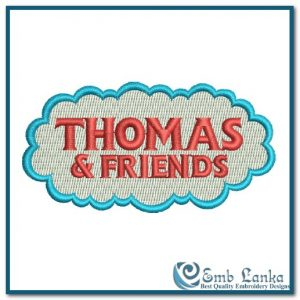 Thomas and Friends Logo Embroidery Design Cartoon