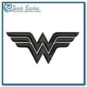 Wonder Woman Logo 1 Embroidery Design Cartoon