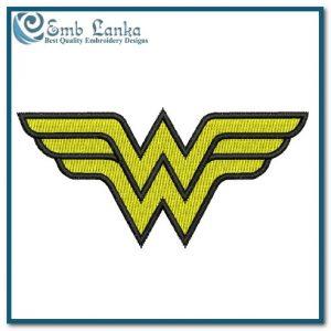 Wonder Woman Logo 4 Embroidery Design Cartoon