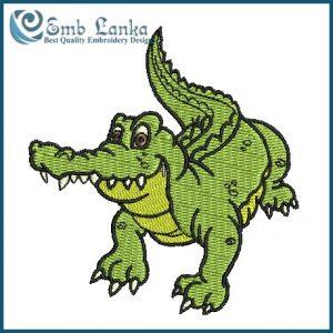 Aligator 2  Embroidery Design Animals
