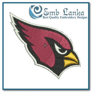 Arizona Cardinals Logo Embroidery Design Birds