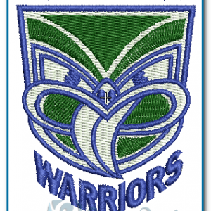 Auckland Warriors Rugby Logo Embroidery Design Logos
