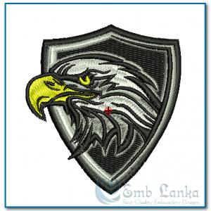 Bald Eagle Mascot Badge Embroidery Design Birds