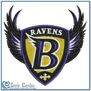 Baltimore Ravens Logo Embroidery Design Logos