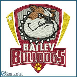 Batley Bulldogs Championship Rugby League Logo Embroidery Design Animals