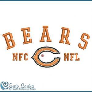 Bears NFL Logo Embroidery Design Logos