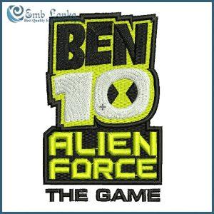 Ben 10 Alien Force Logo Embroidery Design Cartoon