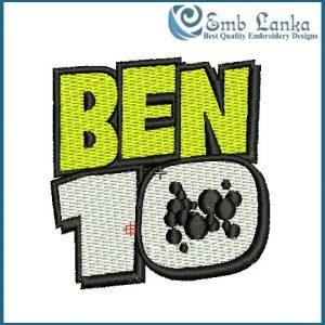 Ben 10 Logo Embroidery Design Cartoon