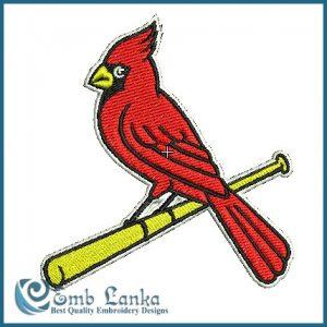 Cardinals Logo Embroidery Design Birds