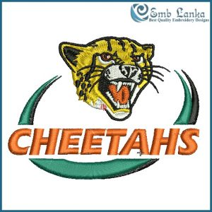 Cheetahs Rugby Logo Embroidery Design Animals