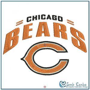 Chicago Bears Logo 2 Embroidery Design Logos