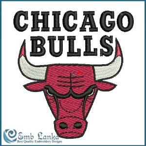 Chicago Bulls Alternate Logo Embroidery Design Animals