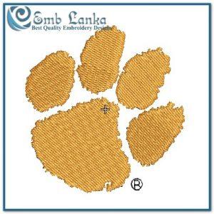 Clemson Tigers Logo Embroidery Design Animals