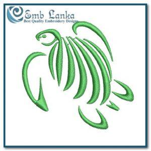 Creative Green Sea Turtle Embroidery Design Animals