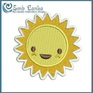 Cute Sun 3 Embroidery Design Cartoon