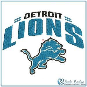 Detroit Lions Logo 2 Embroidery Design Logos