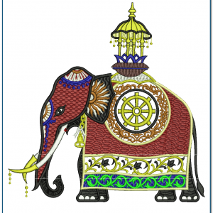 Elephant Embroidery Design Animals