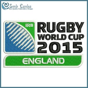 England Rugby World Cup 2015 Logo Embroidery Design Logos