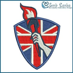 Flaming Torch Embroidery Design Flags