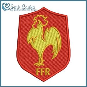 France National Rugby Union Team Logo Embroidery Design Logos