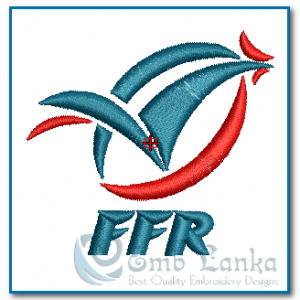 Freanch Rugby Logo Embroidery Design Logos