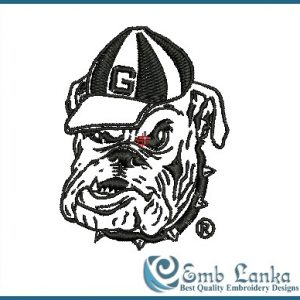 Georgia Bulldogs Alternate Logo Embroidery Design Animals