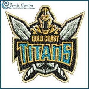 Gold Coast Titans Logo Embroidery Design Logos