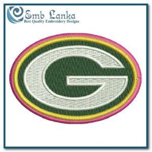 Green Bay Packer Cancer Logo Embroidery Design Logos