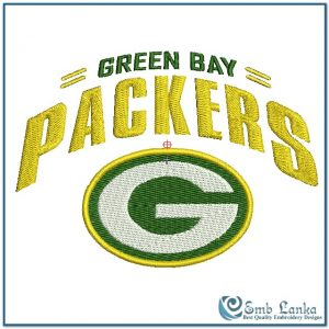 Green Bay Packers Logo 2 Embroidery Design Logos