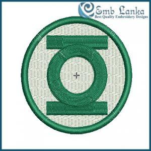Green Lantern Logo 2 Embroidery Design Cartoon