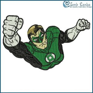 Green Lantern Logo Embroidery Design Cartoon