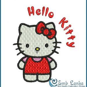 Hello Kitty 2 Embroidery Design