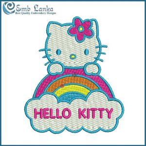 Hello Kitty 5 Embroidery Design