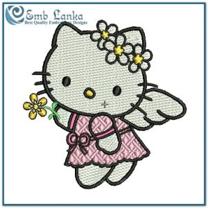 Hello Kitty Angel Embroidery Design Angels